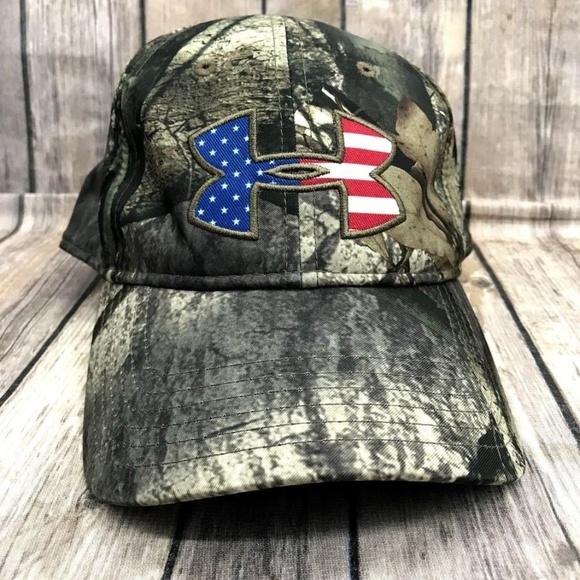 689aadc1f4 Men's Under Armour Camo US Flag Logo Snap Back Cap